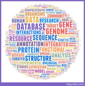 NAR 2012 Database issue abstracts word cloud (Andrew Su)