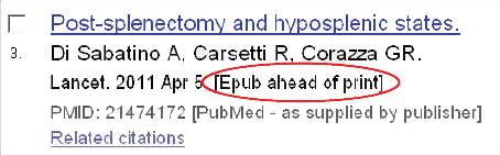 Citation marked as [Epub ahead of print]