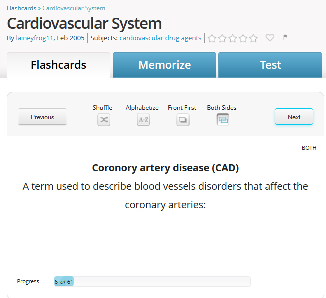 FlashCard example