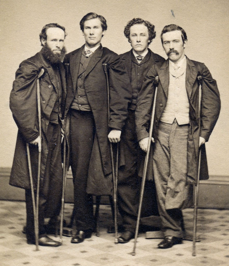 Veterans John J. Long, Walter H. French, E. P Robinson, and an unidentified companion, 1860s Courtesy Library of Congress