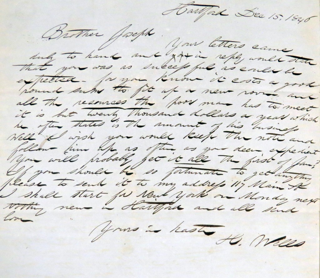 Wells Letters