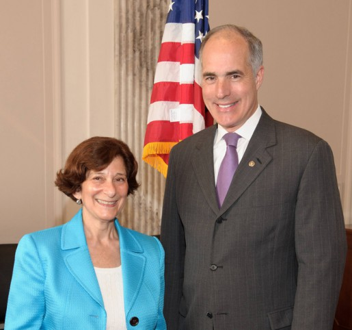 Barbara Epstein and Senator Casey