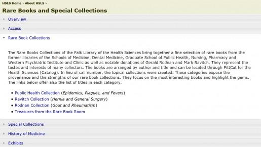 RareBooksWebpage