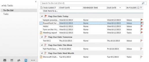Note to Self: Set Up Tasks in Microsoft Outlook | HSLS Update