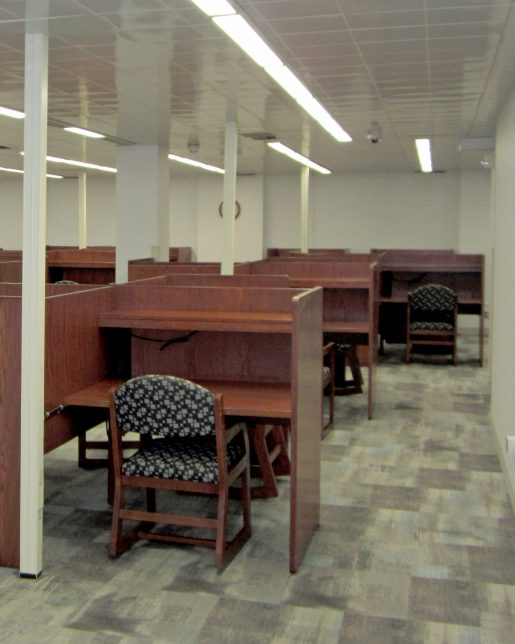 Desks in new quiet study area