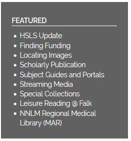 Featured links screenshot