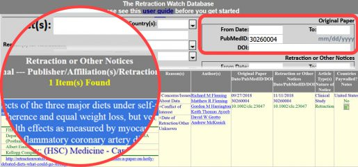 Retraction Watch Database Original Paper Search