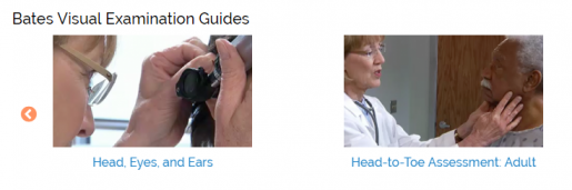 Thumbnails of Bates Guide videos