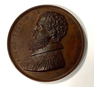 Profile of person on a medal
